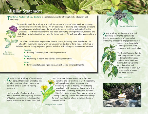 Herbal Academy Brochure Interior