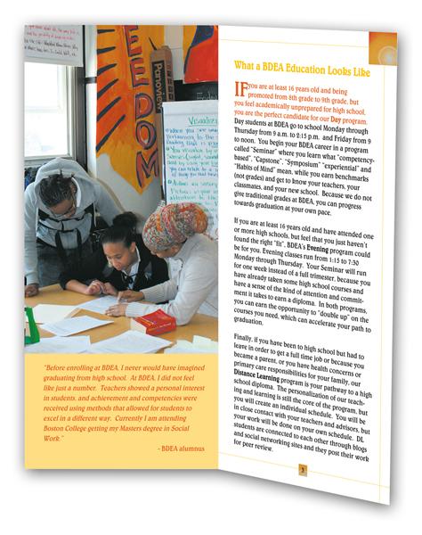 BDEA brochure interior