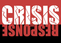 Crisis & Response postcard design