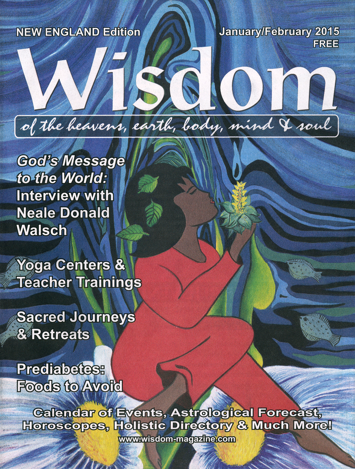 Cover illustration for Wisdom Mag