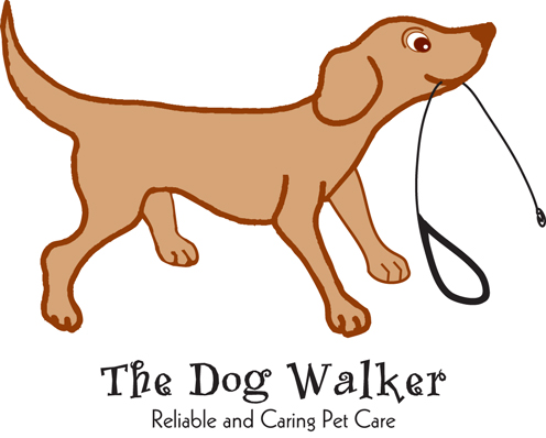 Logo illustration for The Dog Walker
