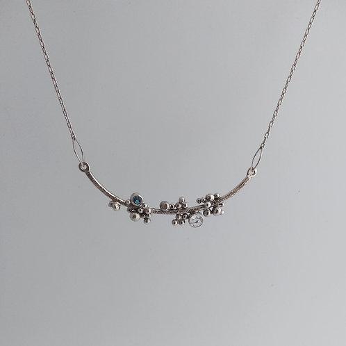 Wave Crest, Curved Necklace