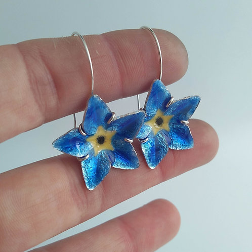 Forget-Me-Not Earrings: Nitric Blue