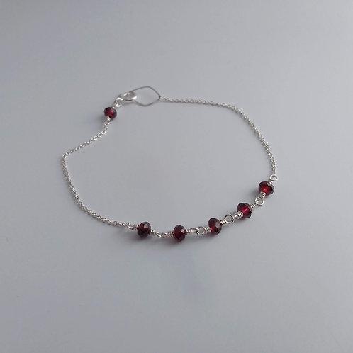 Garnet Linkage Bracelet