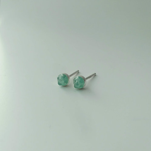 Grass Green Resin and Glass Studs