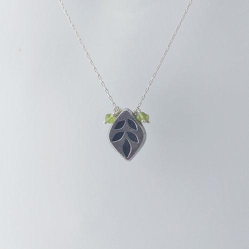 Hollow Form, Leaf Necklace