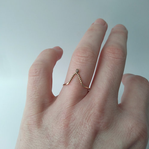 Yellow Gold Angled Ring