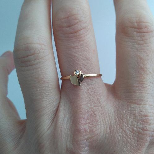 14K Flower Ring