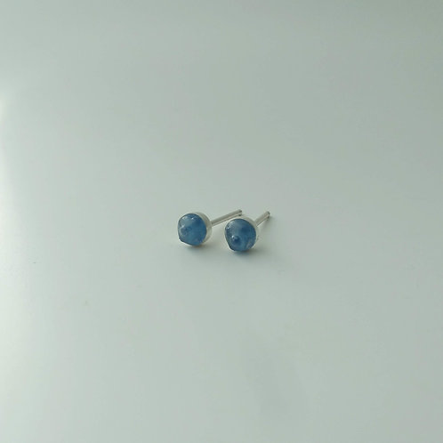 Blue Glass and Resin Studs