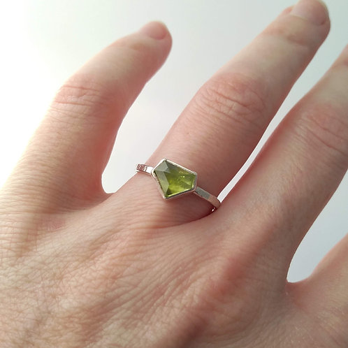 Peridot 'Diamond' Ring