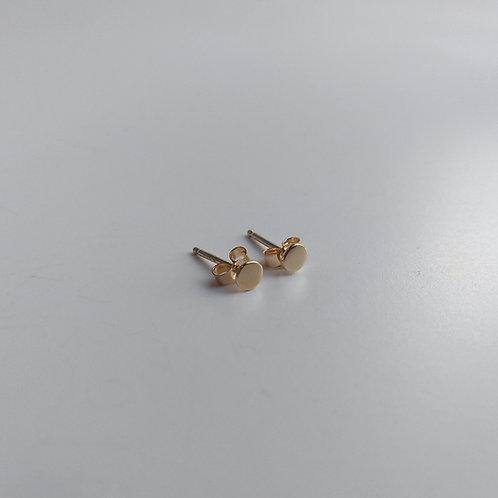 14K Yellow Gold, Dot Earrings