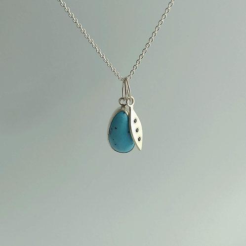 Lavender Turquoise Charm Necklace