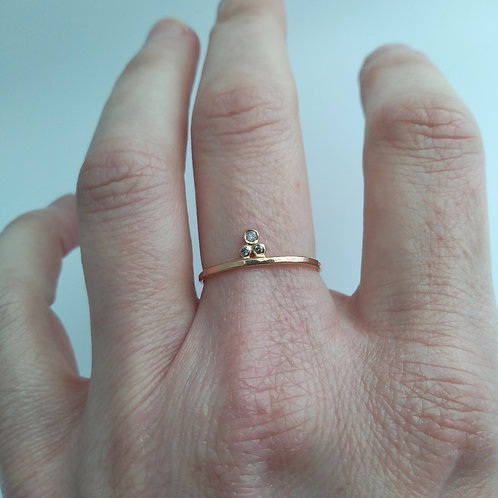 Diamond Granule Ring