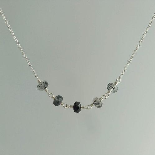 Rutilated Quartz Link Necklace