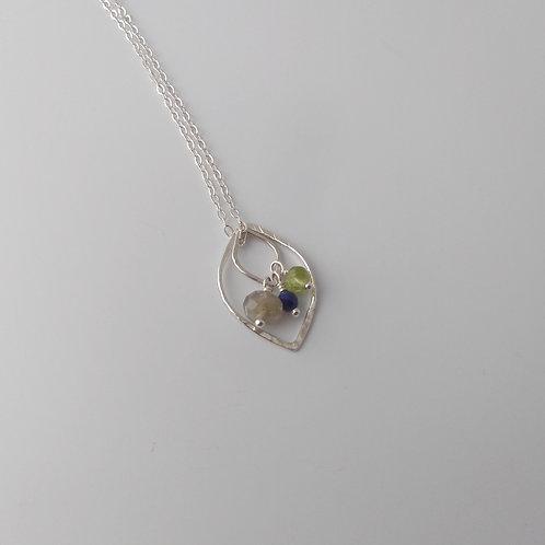Multi-Way Leaf Necklace (Cool Tones)