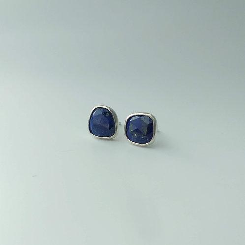 Rosecut Lapis Lazuli Studs