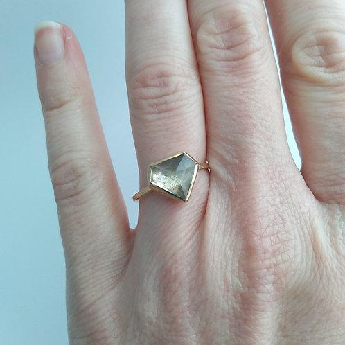 Aquamarine 'Diamond' Ring