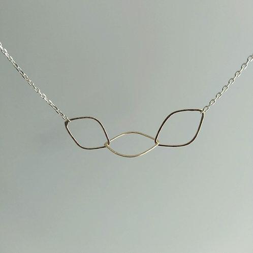 2 Tone Leaf Link Necklace