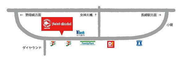 サンミシェル新戸町店地図