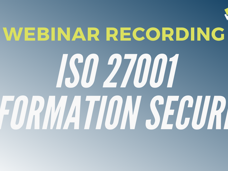 Introduction to ISO 27001 (Information Security Management)