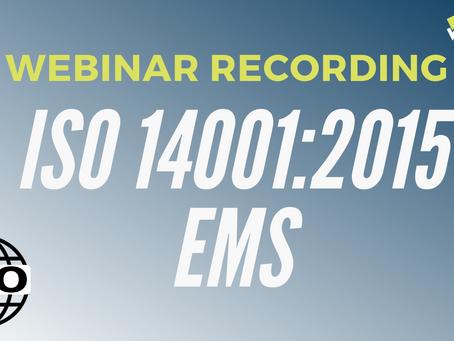 ISO 14001:2015 Training - Environmental Management