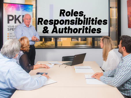 Organisational Roles, Responsibilities and Authorities
