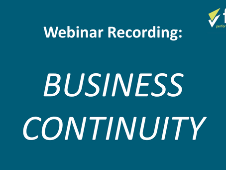 WEBINAR: How to Write an Effective Business Continuity Plan