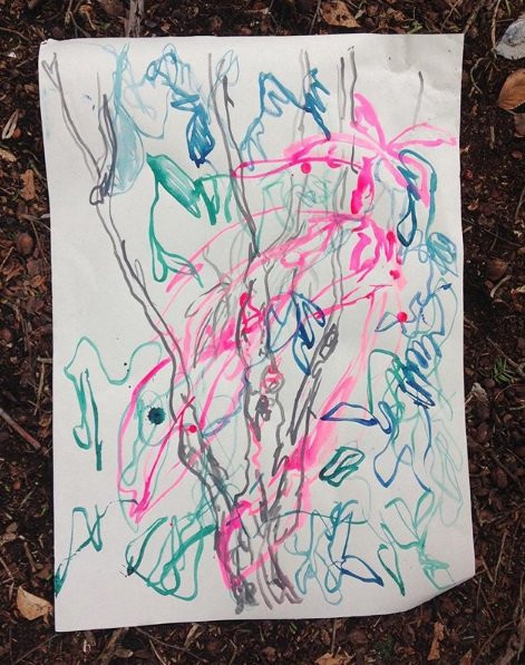 Woodland Drawing, Limnerslease Residency, collaborative artists in residence with Charlie Betts, at Watts Gallery Artist Village, 2018