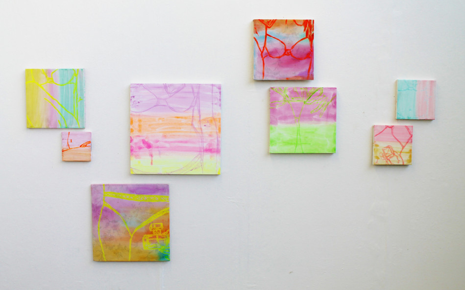 Fluore$cent, acrylic on canvas, 2013