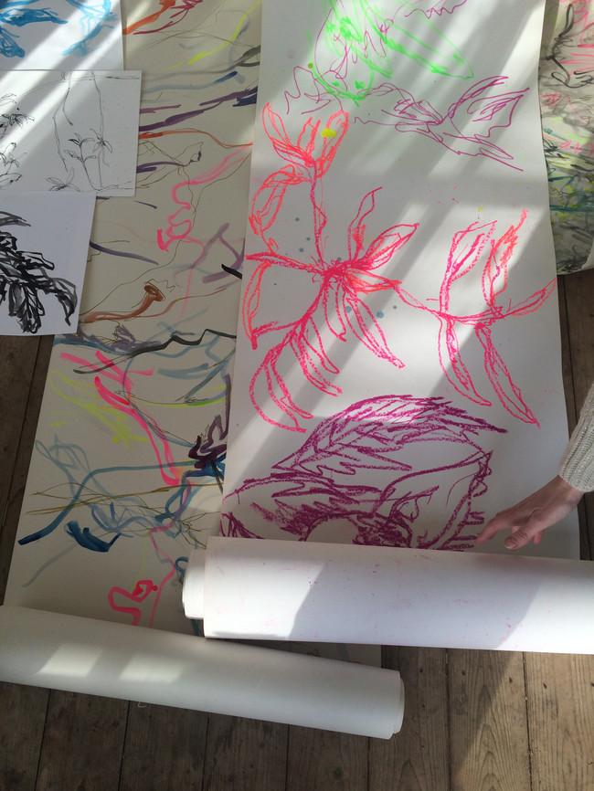 Installation in the Summerhouse Limnerslease Residency, collaborative artists in residence with Charlie Betts, at WattsGallery Artist Village, 2019