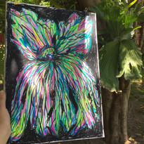 The Mother Tree sketch, mixed media on paper, 2020. Malinalco Residency, Mexico
