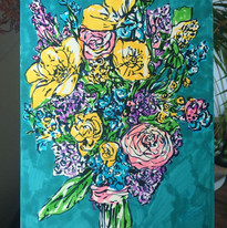 Drawing for Joy - Bouquet, pen on paper, 2019