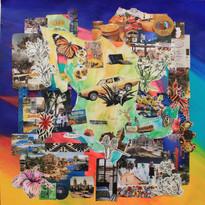 'Laredo - Mexico City - Acapulco, 1972', mixed media on paper, 2020.