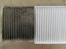 Cabin Pollen Filters old & new