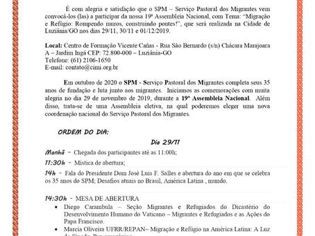 19ª Assembleia Nacional do SPM acontecerá em Goiás
