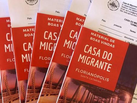 Um ano da Casa do Migrante Scalabrini em Florianópolis/SC