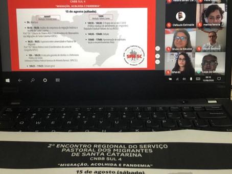 """""""Migração, acolhida e pandemia"""" foi tema do II Encontro Regional do SPM SC"""