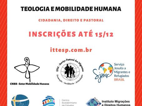 Especialização em Teologia e Mobilidade humana: Cidadania, Direito e Pastoral