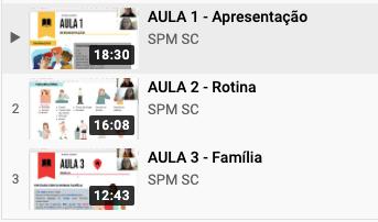Início das aulas de português online do SPM SC