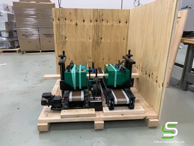 Machines Secured in Crate