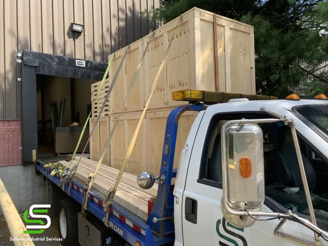 Crates on Truck