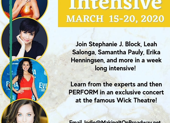 Spring Intensive - Mar 15-20, 2021