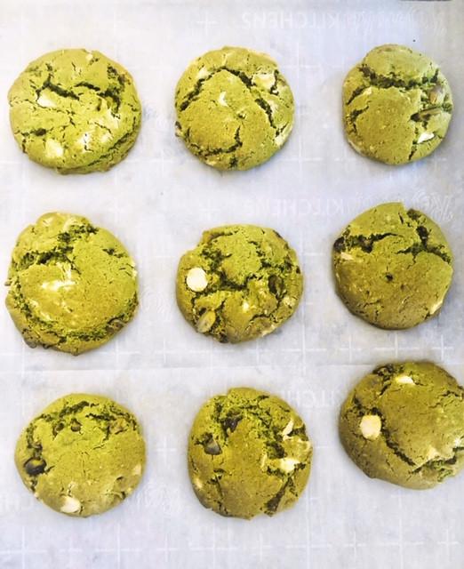Gluten-Free Paleo Matcha Cookies made with Super Batter Matcha Superfood Pancake & Waffle Mix