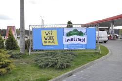 banner konstrukcja azurowa jednostronna