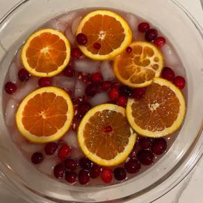 Cranberry Orange Fizzy Punch