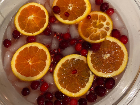 Cranberry Orange Fizzy Punch