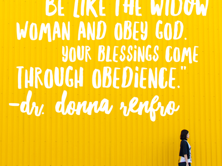 Three Widows – One Option: Obedience