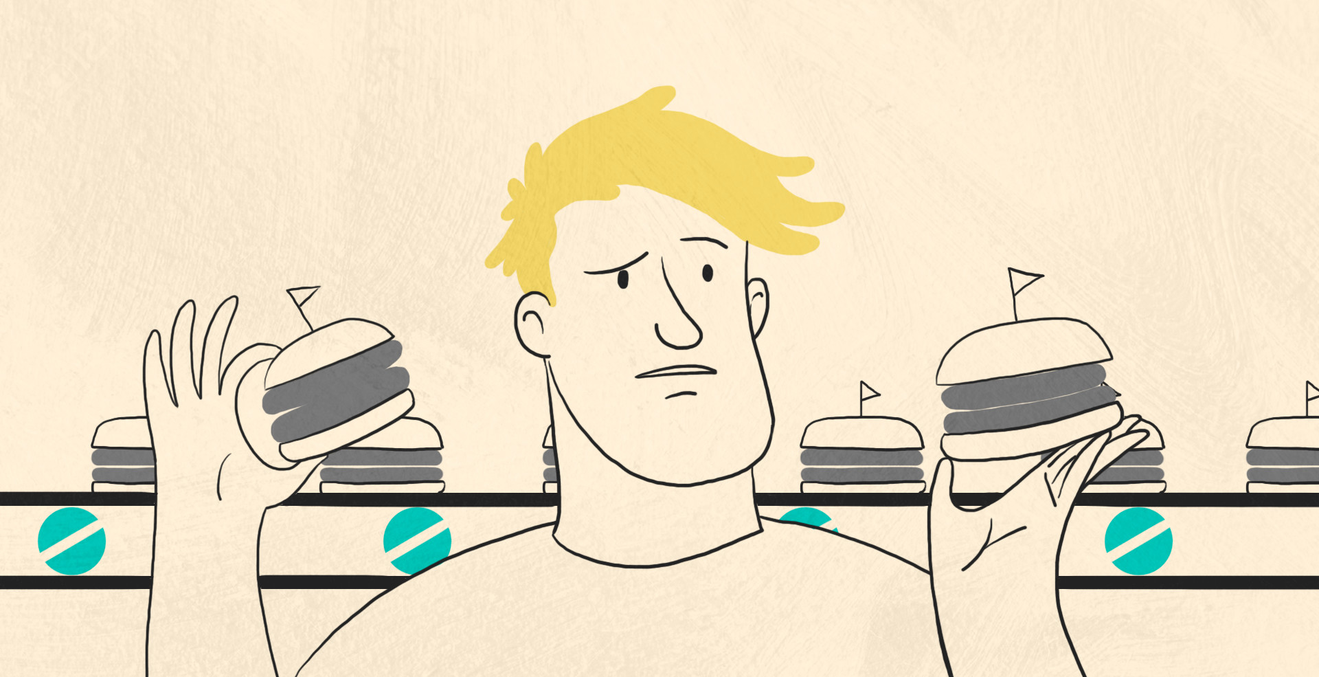 David with Burgers