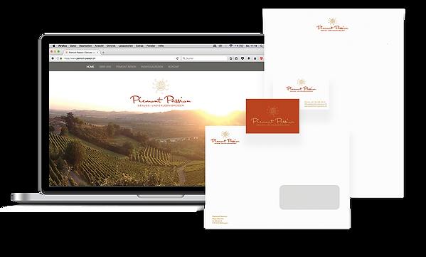 Startpaket mit Webite und Briefschaften