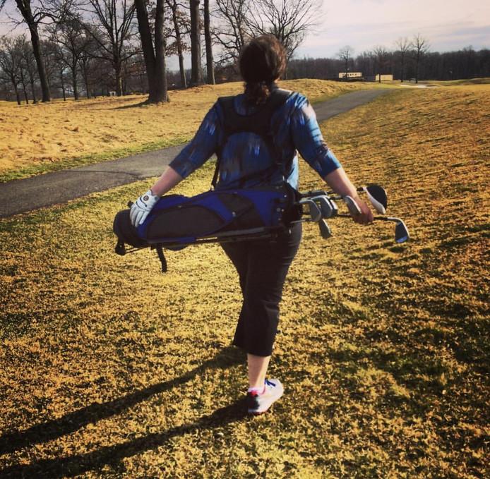 Eliese Lissner Golfing